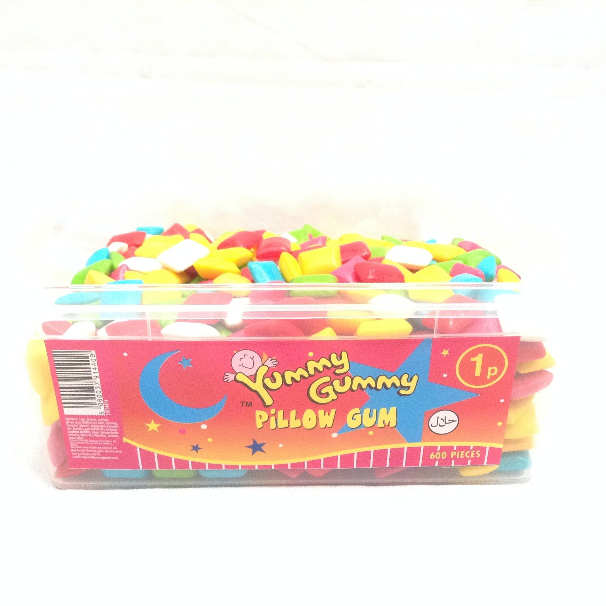 Yummy Gummy Bubble Gum Tub 1p Pillow - Tubs 1p - Sweets