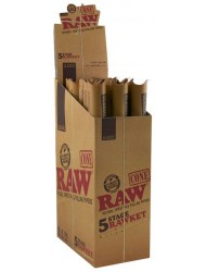 Raw 5 Stage Rawket Cones 5 Sizes Box of 15 Packs x 5 Total 75 Cones