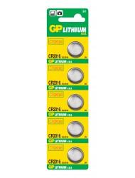 GP CR 2016 3V LITHIUM COIN 5 BATTERIES X 5