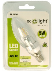 Eco Light LED Bulb Candle 5w Warm White
