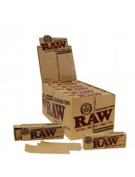 Raw Filter Tips Gummed Perforated x 24