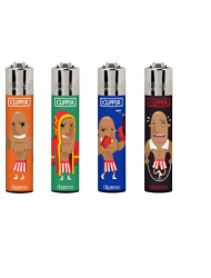 Clipper Lighter Design Assorted Sports x 40