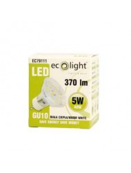 Eco Light LED Bulb GU10 5w Warm White Boxed