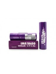 2 X GENUINE EFEST 3000 MAH 35 AMP BATTERY LI-MN PURPLE 18650 IMR HIGH
