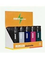 Ronson Colourlite Disposable Piezo Electronic Lighter x 3