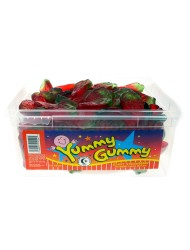 Yummy Gummy Jelly Tub 5p Giant Strawberry