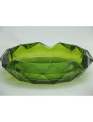 Glass Ashtray Green