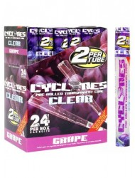 Cyclone Blunt Wraps Clear Grape x 24
