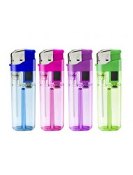 I Flame Electronic Lighter Clear Colour Blister Pack x 3