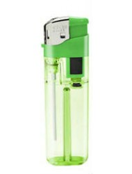 Coyote Electronic Lighter Clear Green Blister Pack x 5