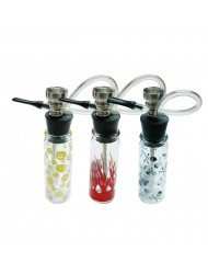 Mini Glass Hookah Assorted Design and Colours  12cm Single