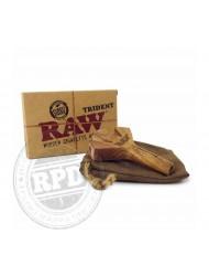 Raw Trident Wooden 3 Barrel Cone Holder