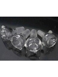 5-PACK 14.5mm Male Glass Bong Bowls package cheapness tobacco cigarette holder glass water bong bowls with transparent and economical and practical 14.4 socket