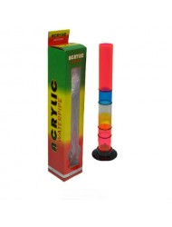 """Acrylic Bong Cylinder Coloured Boxed 18"""" x 1"""