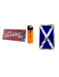 Tobacco Storage Tin With Scotland Flag 1oz Lighter And Rolling Paper Booklet