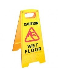 Wet Floor Sign 'Caution Wet Floor' - Size 640mm(h) - Safety Floor Sign