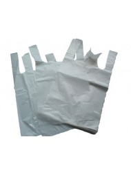 Carrier Bags Large White S4 11x17x21